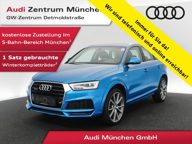 "Audi Q3 2.0 TDI qu. Sport S line 20"" LED Navi R-Kamera Komfortpaket 6-Gang, Jahr 2017, diesel"