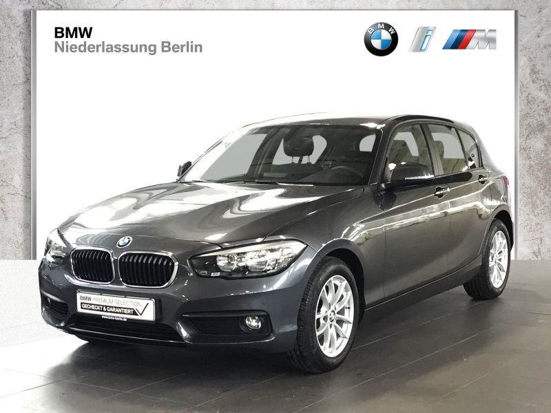 BMW 118i 5-Türer EU6 Aut. Navi Servotronic PDC AHK, Jahr 2017, Benzin