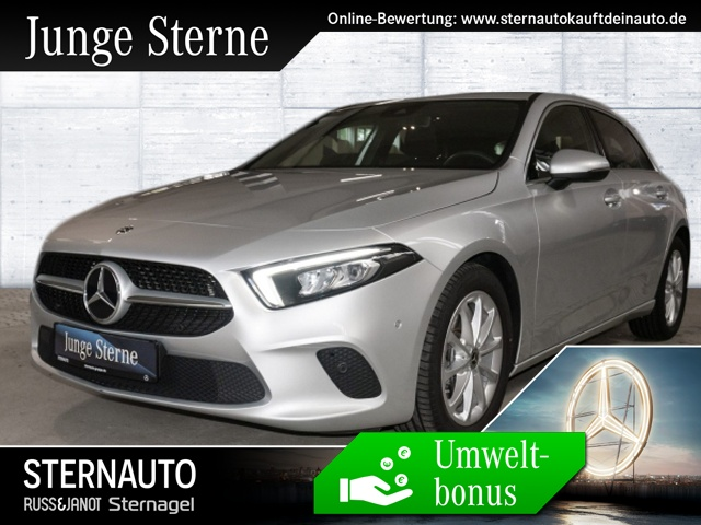 Mercedes-Benz A 250 Progressive Comand MBUX volldigitales Displa, Jahr 2018, petrol