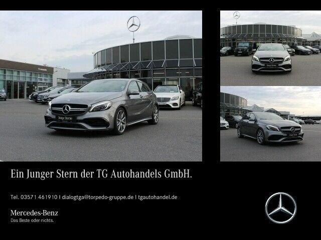 Mercedes-Benz Mercedes-AMG A 45 4M LED+NAVI+PTC+SHZ+TEMPOMAT, Jahr 2017, petrol
