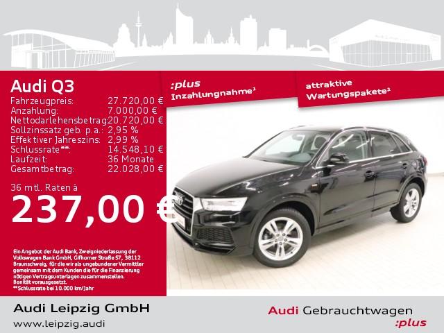 Audi Q3 2.0 TFSI quattro*S line*Pano*LED*Navi*18Zoll*, Jahr 2018, Benzin