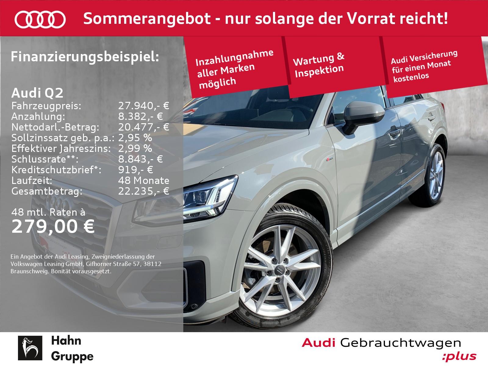 Audi Q2 1.4 TFSI S-trc S-line Navi LED CAM Sitzh, Jahr 2018, Benzin