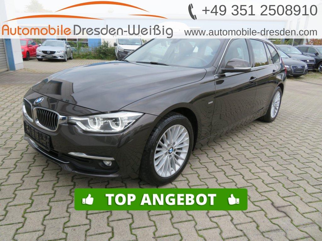 BMW 318 d Touring Luxury Line*Navi*Leder*HeadUp*AHK*, Jahr 2017, Diesel