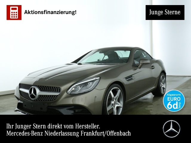 Mercedes-Benz SLC 300 AMG Pano COMAND ILS PTS Airscarf Memory, Jahr 2018, petrol