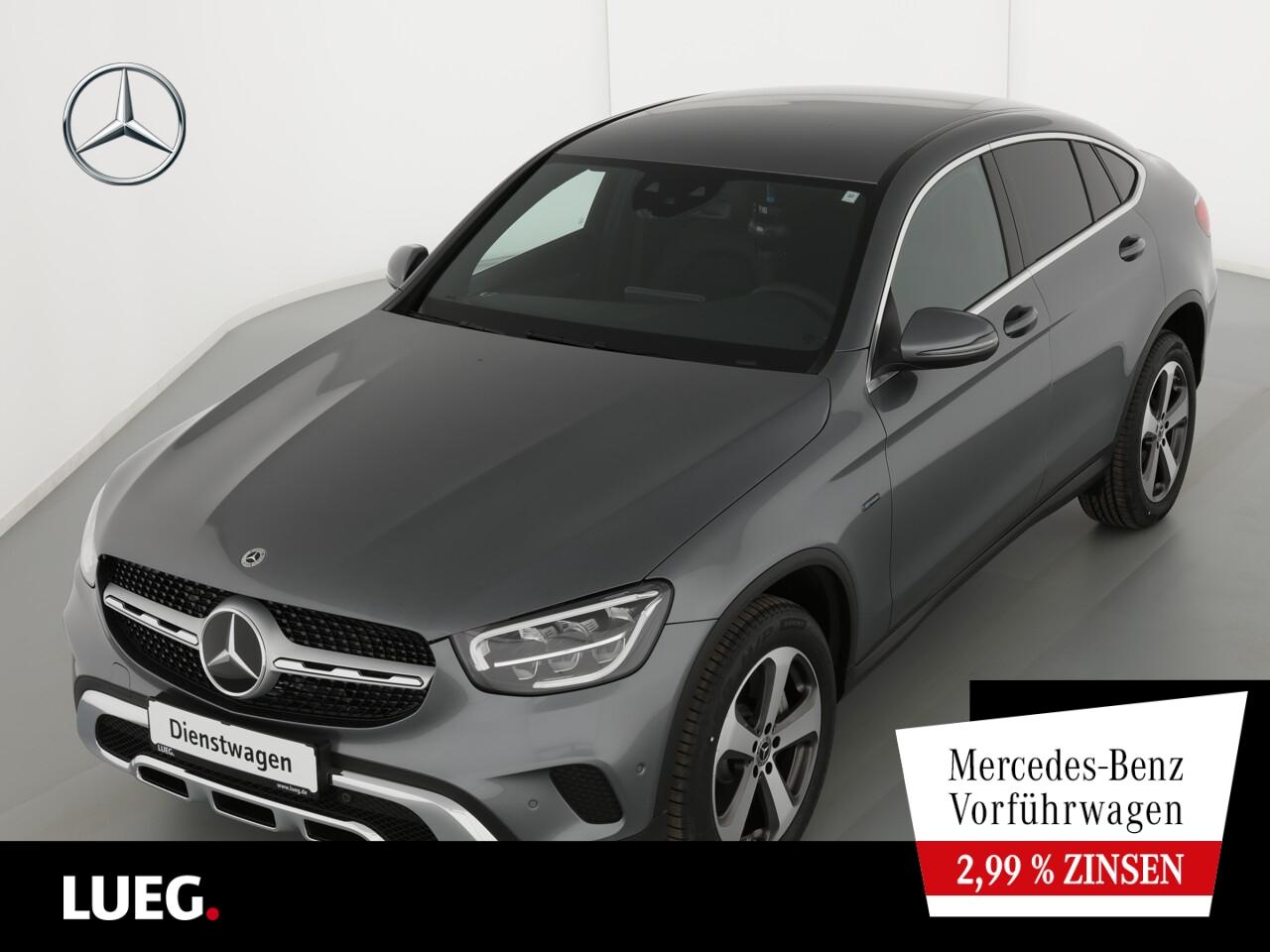 Mercedes-Benz GLC 300 de 4M Coupé EXCLUSIVE+19''+FAHRASS.+AHK, Jahr 2021, Hybrid_Diesel