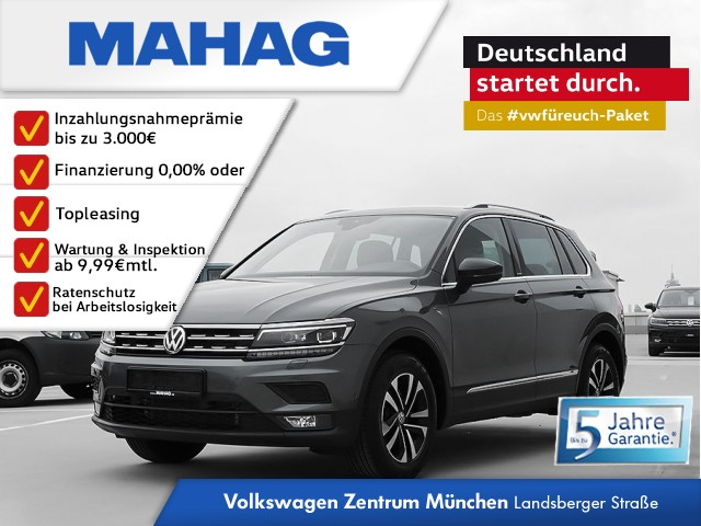 Volkswagen Tiguan 1.5 TSI IQ.DRIVE 6-Gang - LED / Parklenkassistent / 3-Zonen Klima / Sitzheizung vorne / Head-up-Display / ACC / Fahrerassistenzpaket Plus Tiguan 1.5actCLOPFFR 96 TSIM6F, Jahr 2019, Benzin