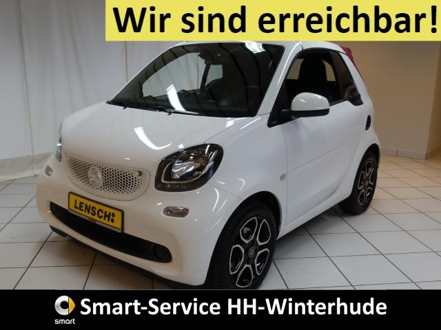 smart fortwo cabrio prime AUTOM+LEDER+NAVI+SITZHZG+USB, Jahr 2016, Benzin