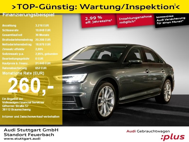 Audi A4 Limousine sport 1.4 TFSI S line LED Navi PDC, Jahr 2018, Benzin