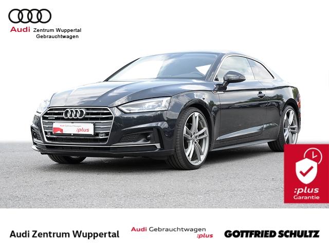 Audi A5 Coupe 2.0TFSI quatt. S-LINE ACC AHK LEDER DAB LED CONNECT NAV SHZ 20ZOLL Sport, Jahr 2017, Benzin