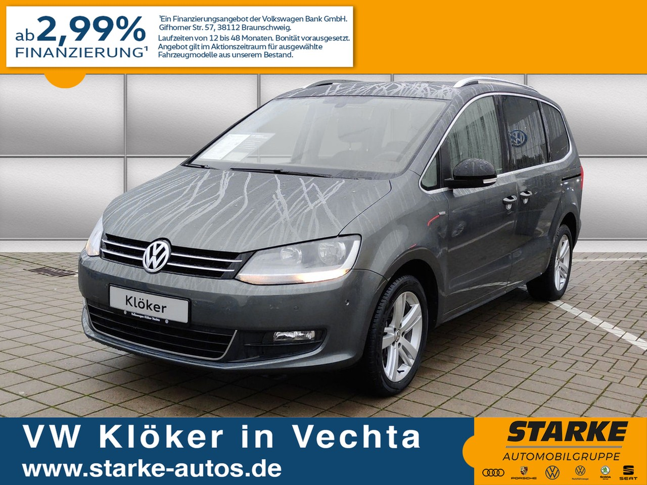 Volkswagen Sharan 2.0 TDI Match, Jahr 2013, Diesel