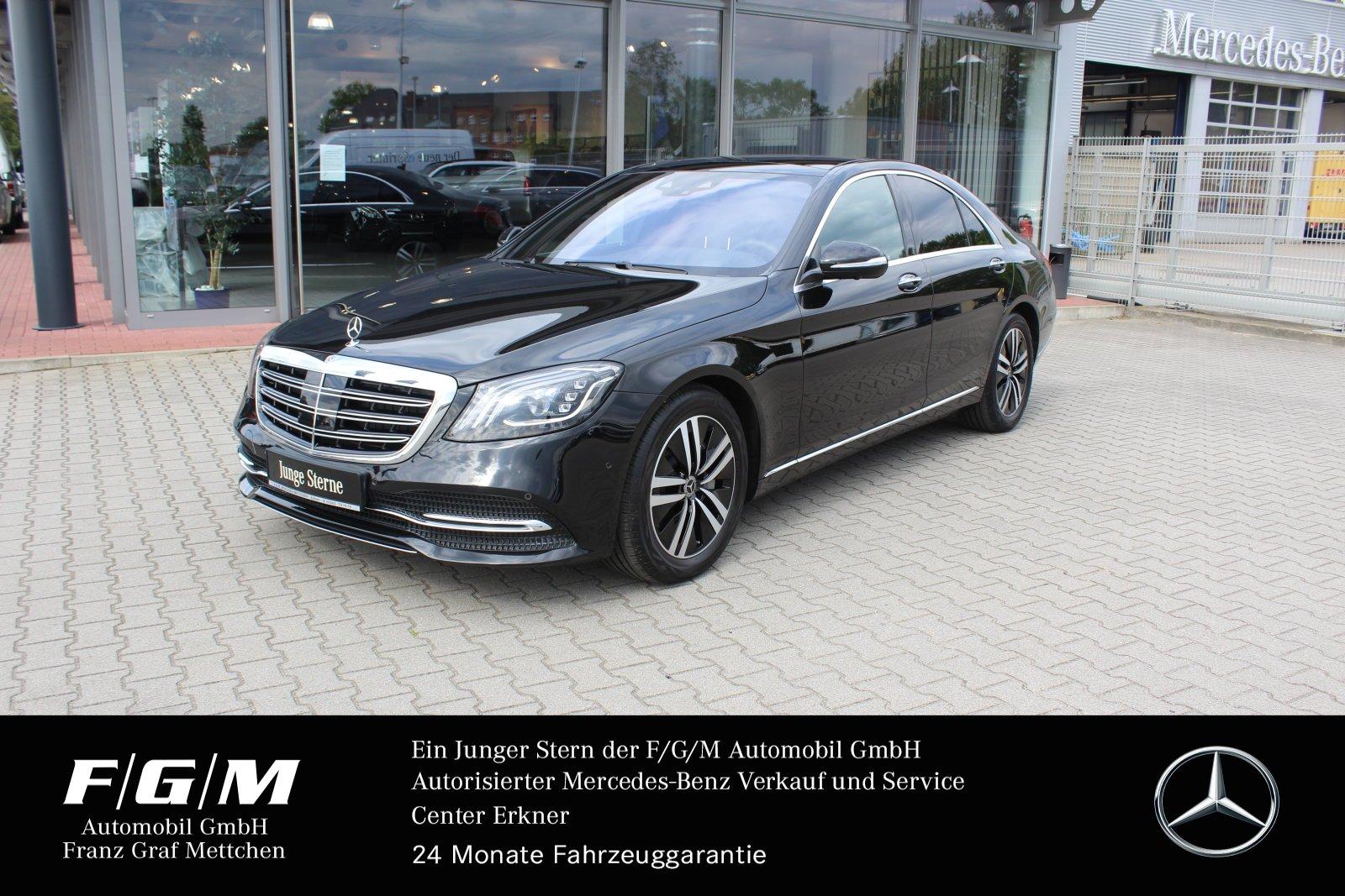 Mercedes-Benz S 450 4M COM/ILS/PanoD/HUD/Distr/KeyGo/360°/DAB, Jahr 2018, Benzin