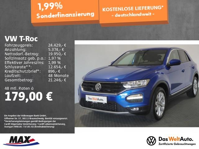 Volkswagen T-Roc 1.5 TSI SPORT NAV+ACC+ALU+PDC+KLIMA+SITZHZ, Jahr 2020, Benzin