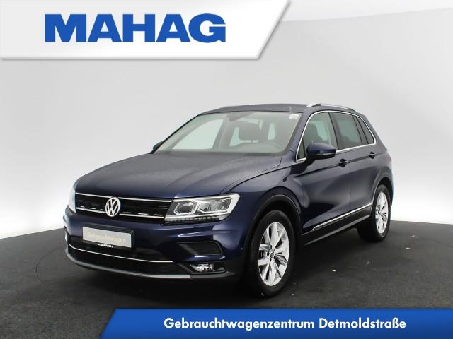 Volkswagen Tiguan 2.0 TDI Highline Navi LED eKlappe SideAssist LaneAssist RearView ParkLenkAssist Sprachbed. 6-Gang, Jahr 2017, Diesel