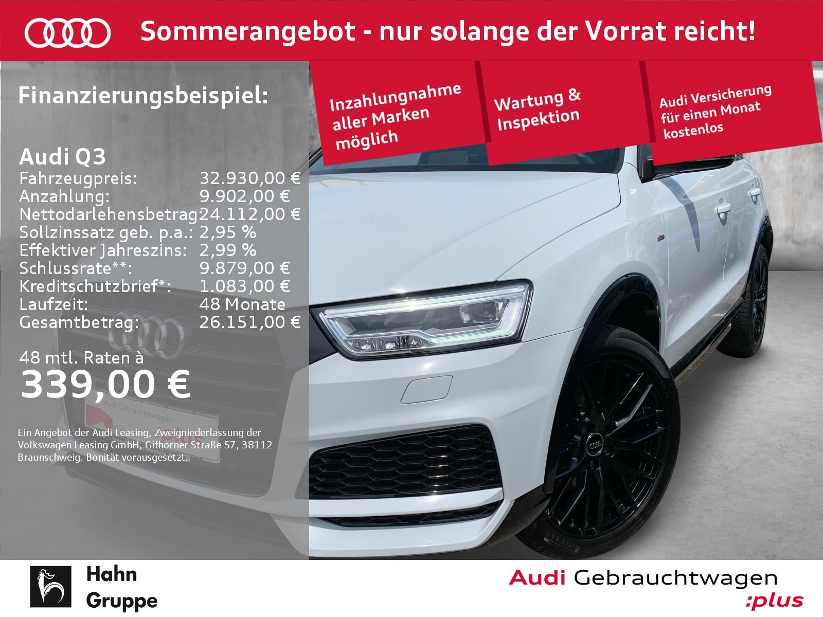 Audi Q3 1.4TFSI S-trc S-line Navi LED CAM Sitzh Tempo, Jahr 2018, Benzin