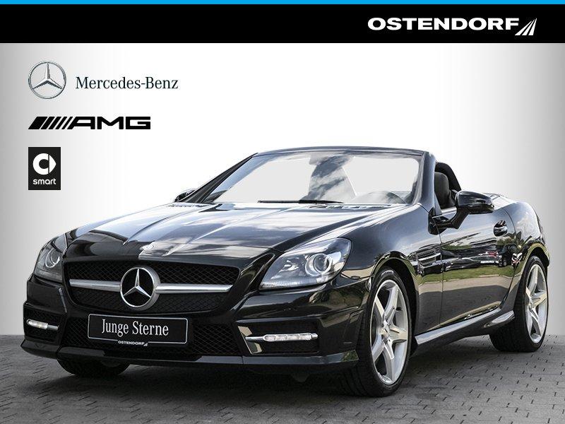 Mercedes-Benz SLK 200 *AMG*7G-Tronic*Navi*Airscarf*Parktronic*, Jahr 2013, petrol