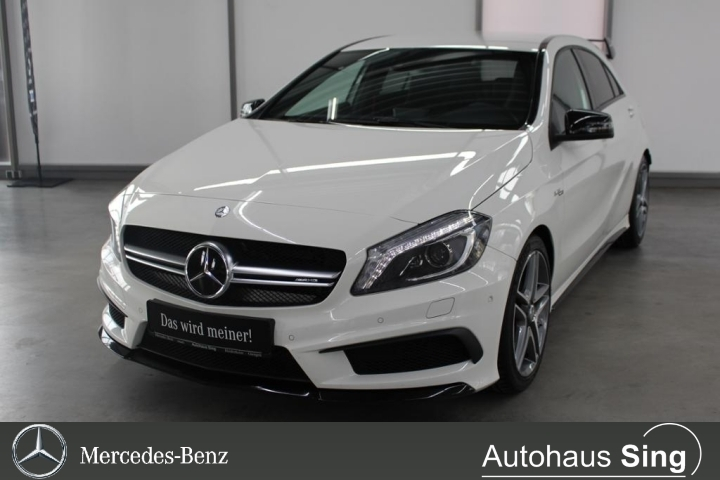 Mercedes-Benz A 45 AMG 4MATIC Designo LED Navi PDC, Jahr 2014, Benzin