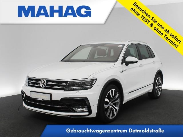 Volkswagen Tiguan 2.0 TDI 4mot. Highline R line Ext. Leder Navi LED AHK Pano 20Zoll DSG, Jahr 2017, Diesel
