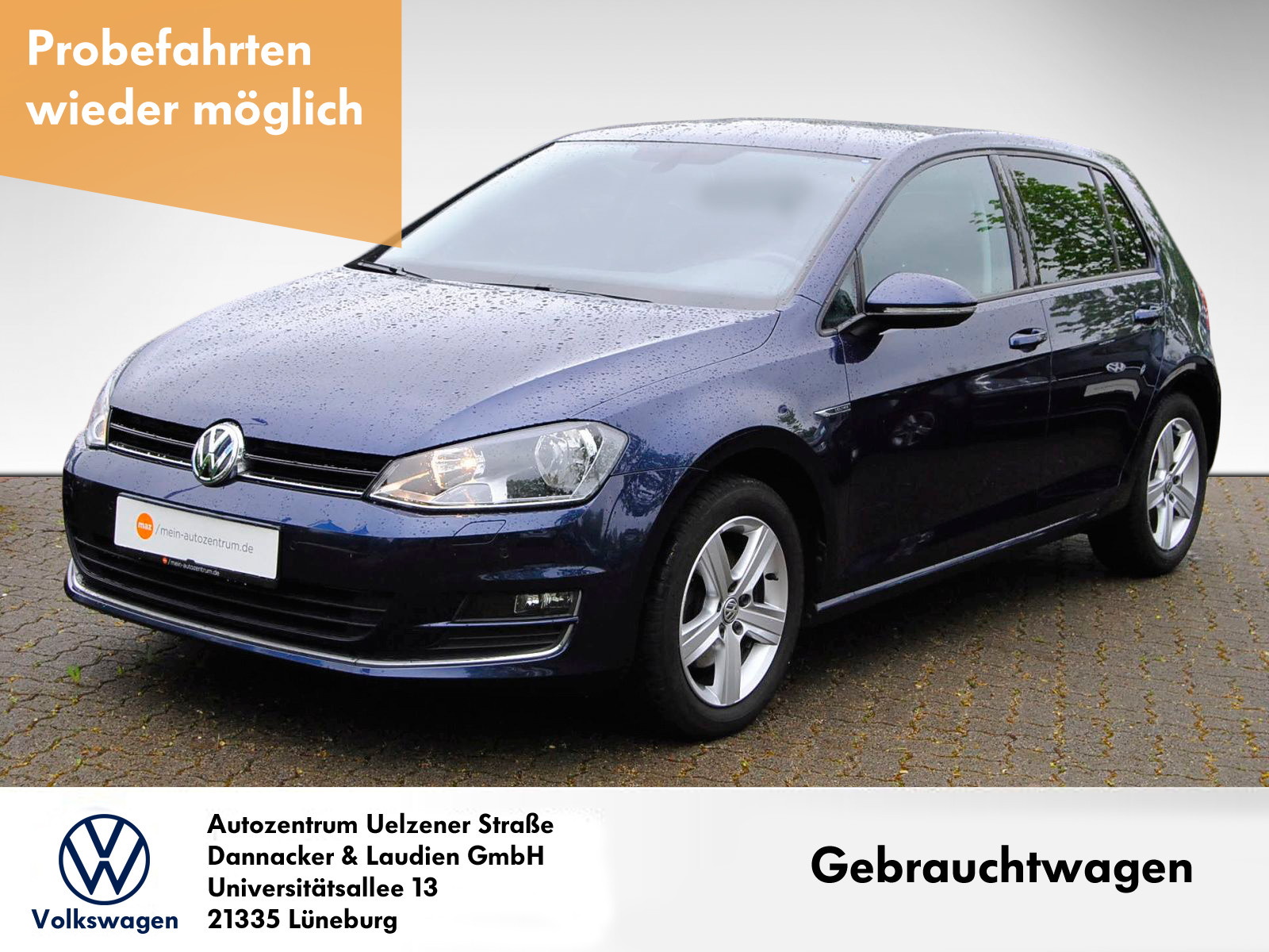 Volkswagen Golf VII 1,4 TSI Lounge BMT Alu Klima Sitzh. Standheiz. PDC Tempomat, Jahr 2015, Benzin