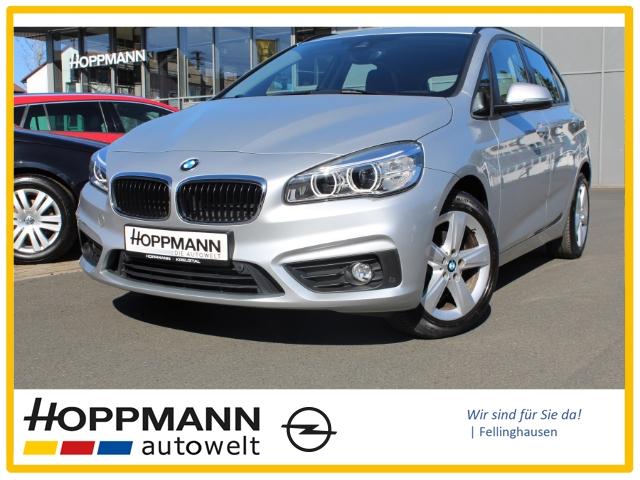 BMW 218 Active Tourer EURO 6 DPF LED-Hauptscheinwerfer 2-Zonen-Klimaautom Navi PDCv+h Lichtsensor SHZ, Jahr 2015, Diesel