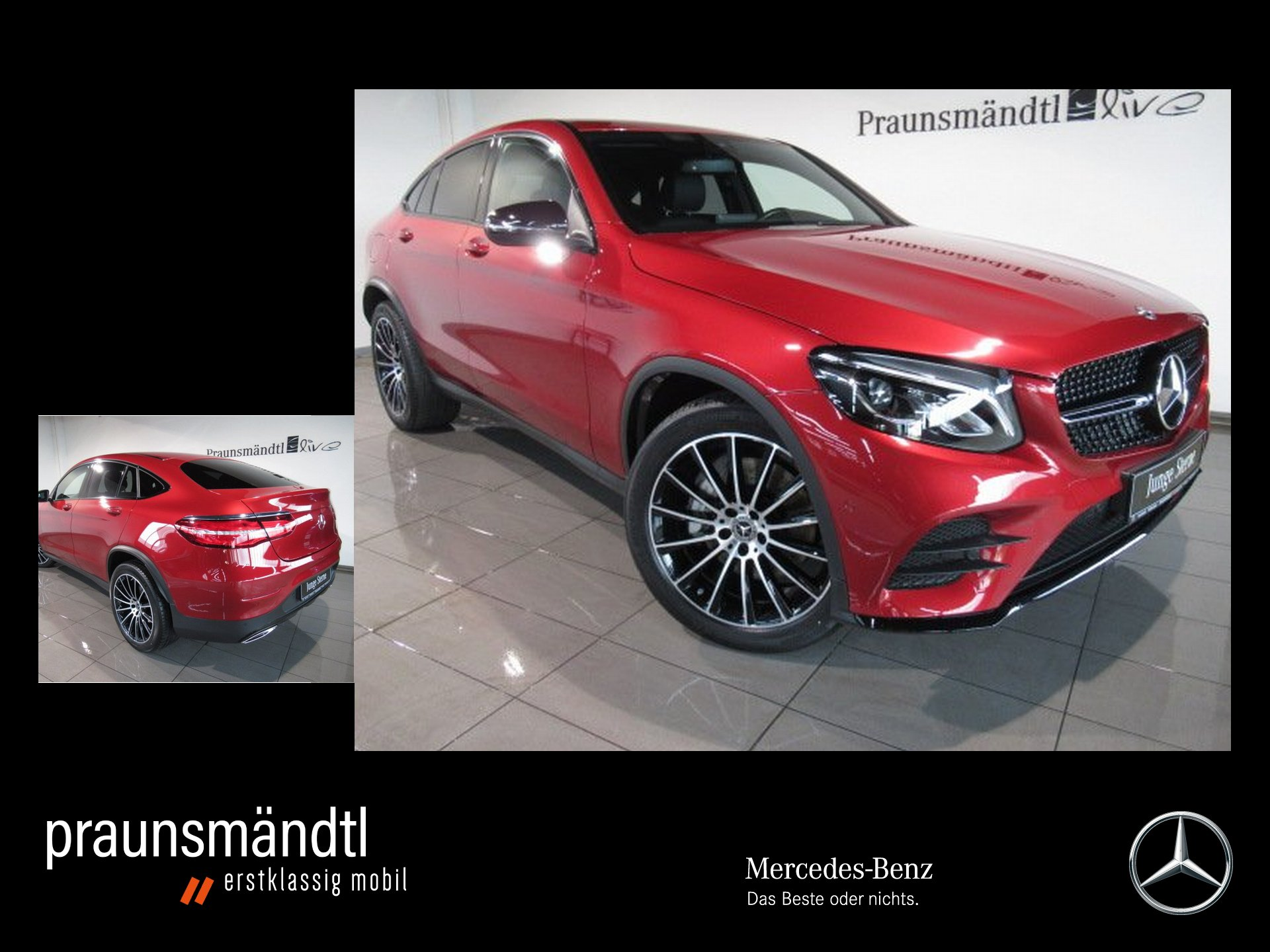 Mercedes-Benz GLC 300 4M Cp AMG Night/LED/AHK/Sound/Kame/20/NA, Jahr 2018, Benzin