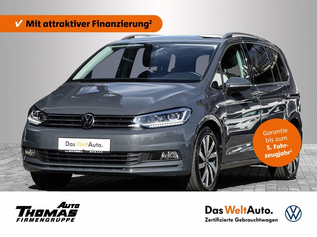 "Volkswagen Touran ""Highline"" 1.5 TSI DSG PANO+ACC+18"", Jahr 2021, petrol"