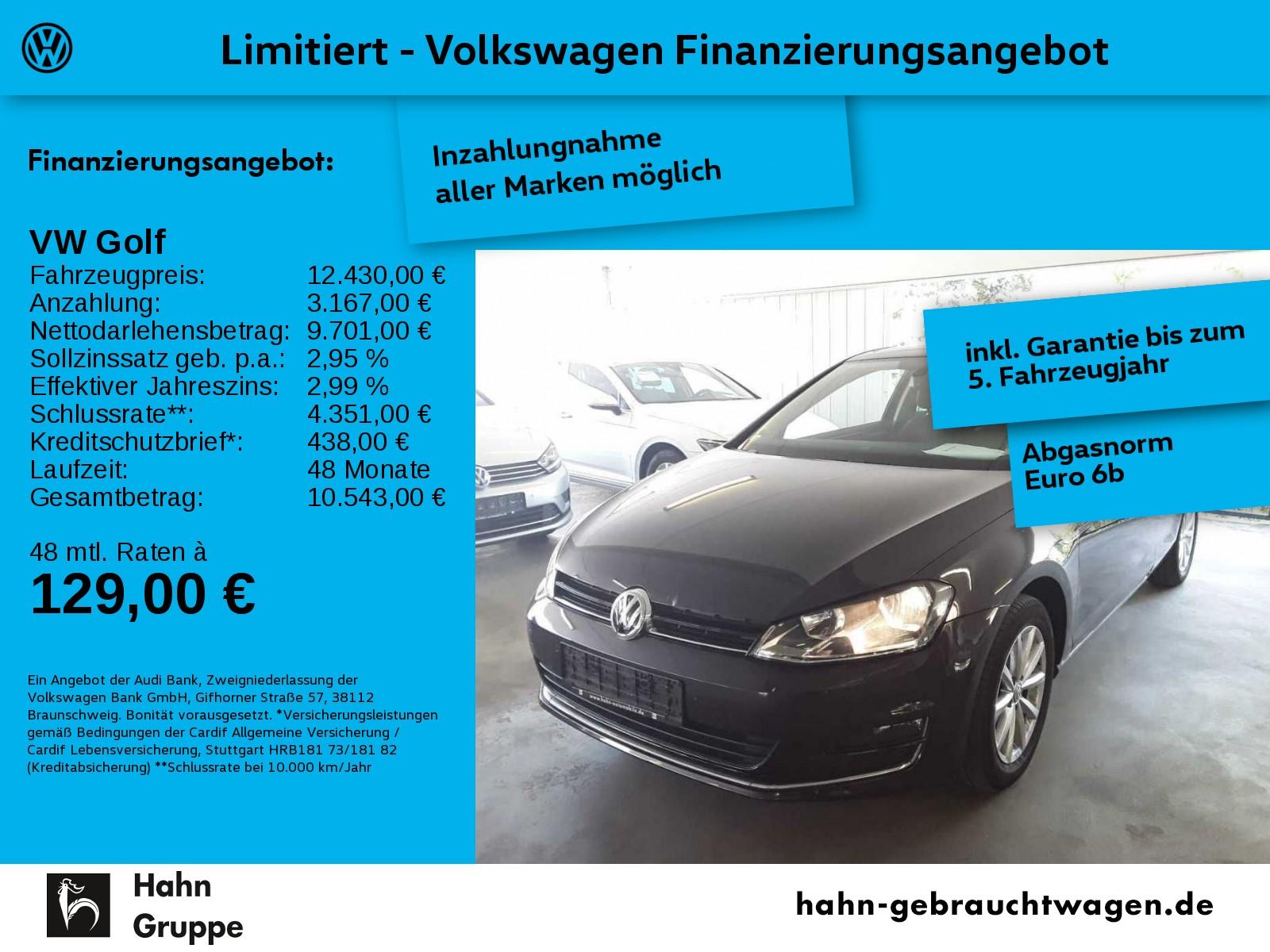 Volkswagen Golf VII LOUNGE 1,2TSI Panorama Park Sitzh Tempo, Jahr 2016, Benzin