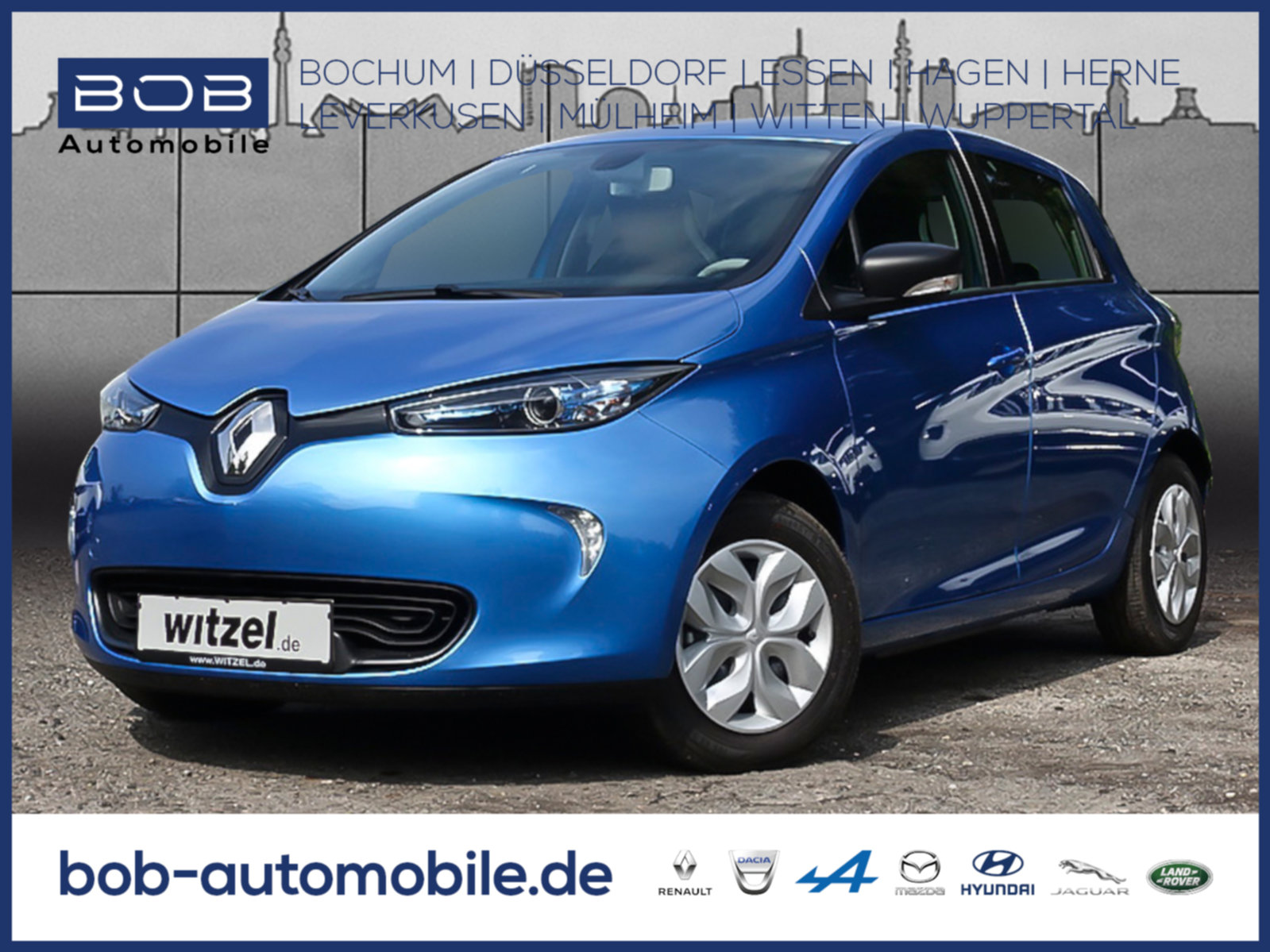 Renault ZOE LIFE Z.E. 40 Batteriemiete NAVI KLIMA, Jahr 2019, Elektro