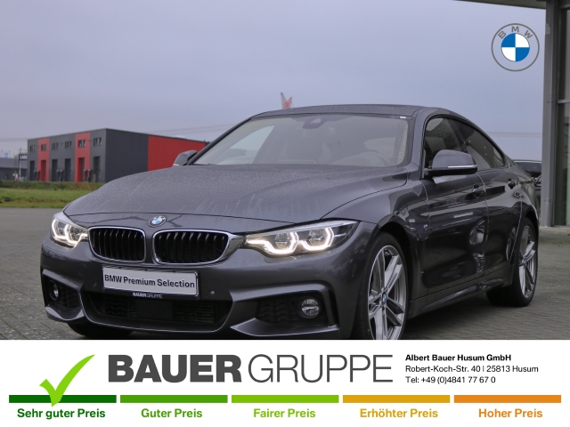 BMW 430 Gran Coupe d M Sport Leder LED Navi Keyless e-Sitze HUD ACC Rückfahrkam. Fernlichtass., Jahr 2017, Diesel