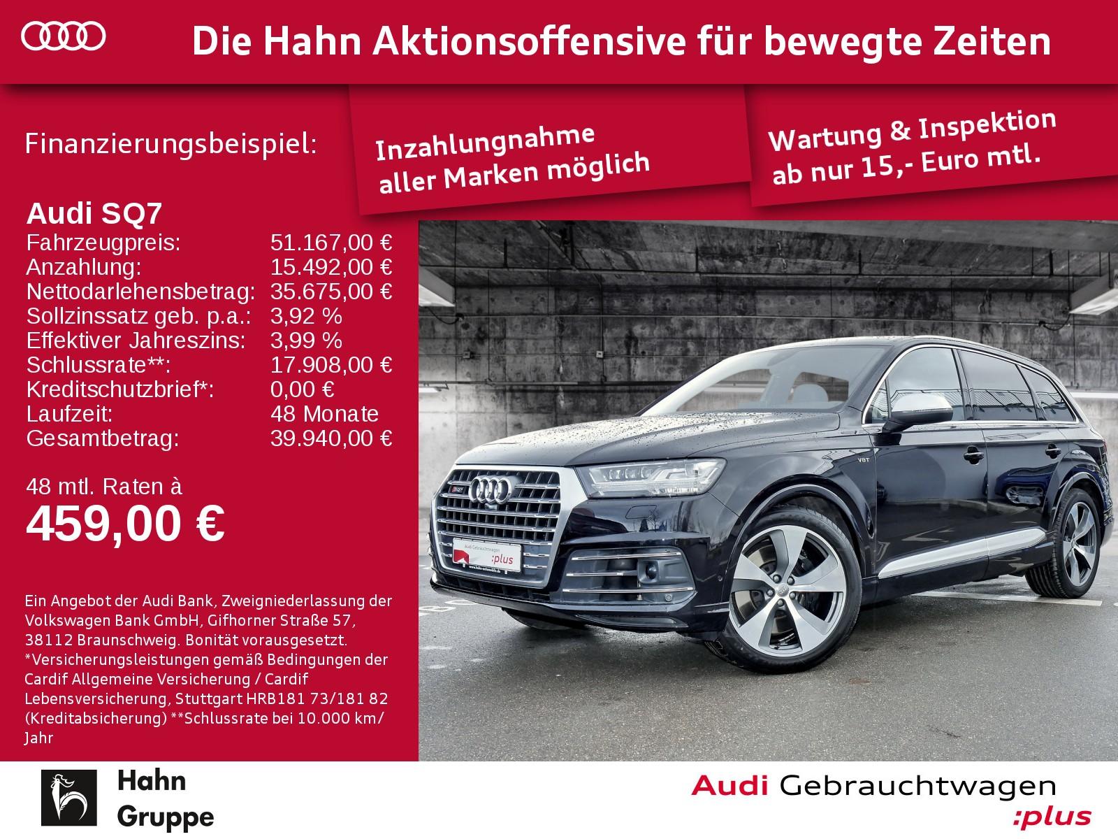 Audi SQ7 4.0TDI EU6 qu. Tip Matrix Navi Standh Pano, Jahr 2016, Diesel