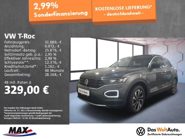 Volkswagen T-Roc 1.5 TSI ACTIVE LED+ACC+AHK+ALU+PDC+SITZHZG, Jahr 2021, Benzin