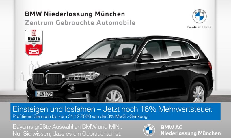 BMW X5 xDrive30d Head-Up HiFi LED Spurwarng. RFK EURO 6, Jahr 2017, Diesel