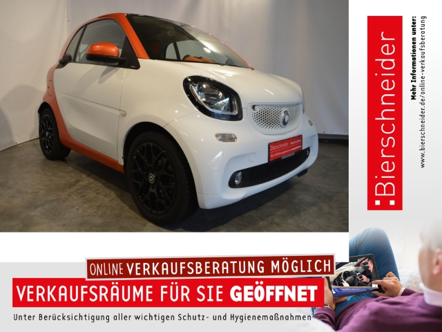 smart fortwo Co passion Edition 1 GRA PANO LED&SENSOR-PAKET, Jahr 2014, Benzin