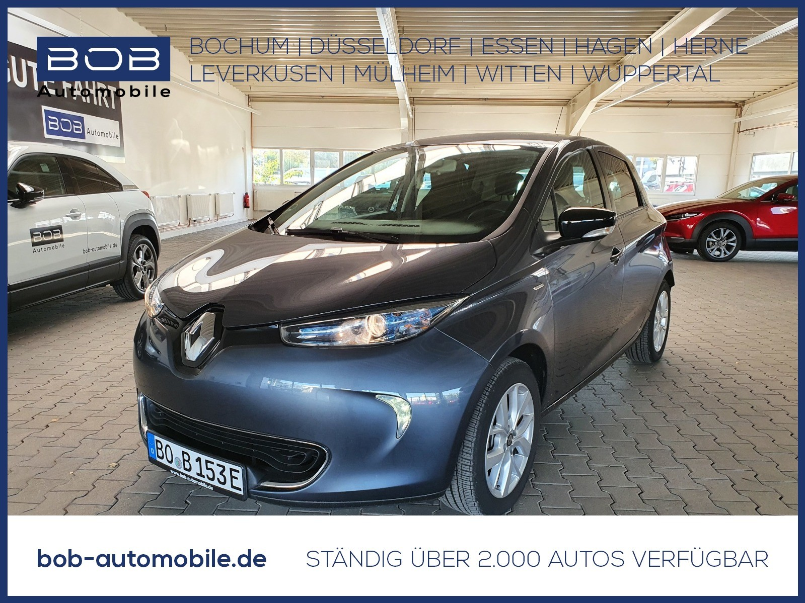 Renault ZOE auf LIMITED Pak. Batteriem. NAVI PDC KLIMA B, Jahr 2019, Elektro