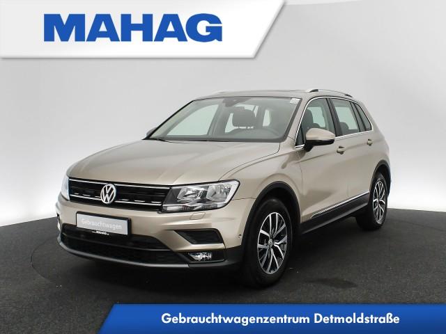 Volkswagen Tiguan 1.4 TSI Comfortline Navi Panorama Kamera Sitzhz. ParkAssist LaneAssist LightAssist FrontAssist 17Zoll 6-Gang, Jahr 2017, Benzin