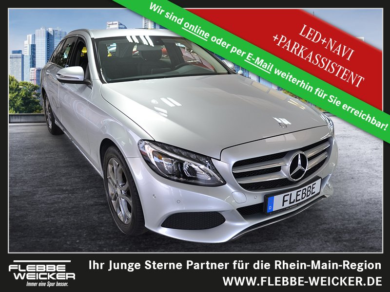 Mercedes-Benz C 180 T Avantgarde Navi / LED / Parkassistent, Jahr 2016, Benzin