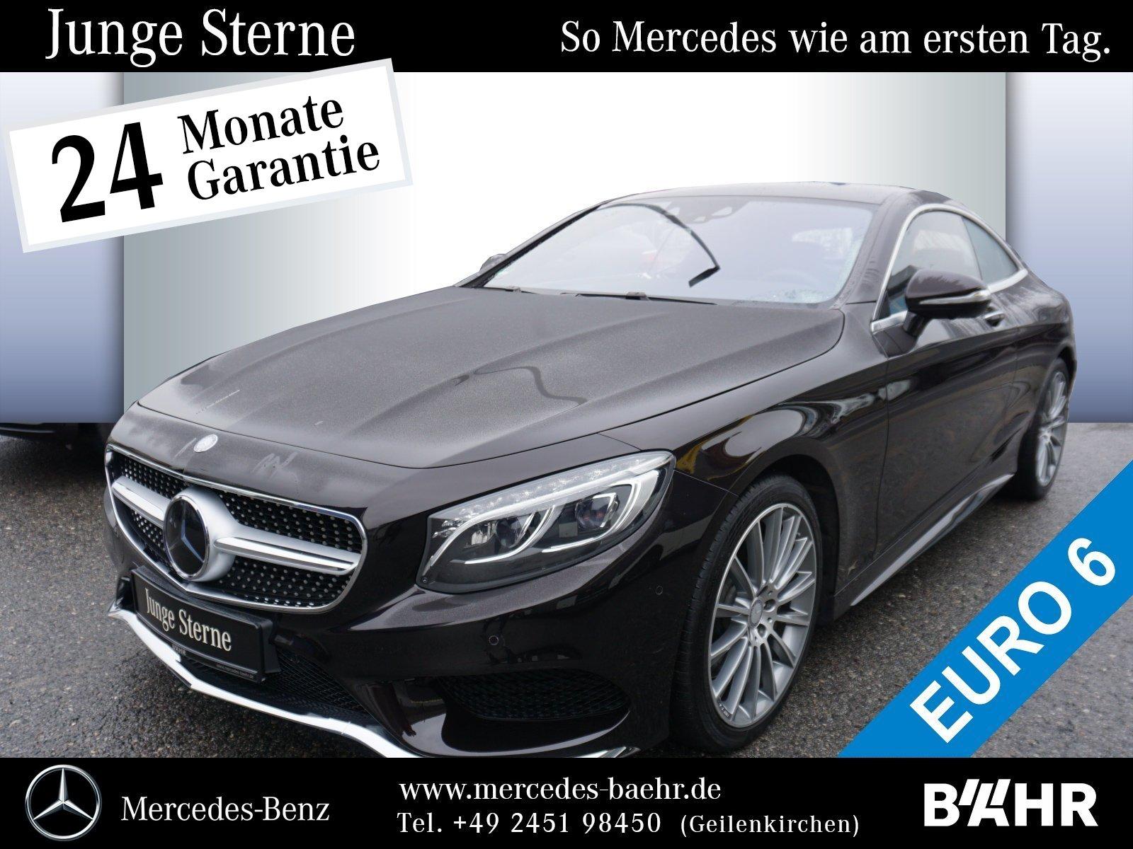 """Mercedes-Benz S 400 4M Coupé AMG/Comand/ILS/360°/Distronic/20"""", Jahr 2016, petrol"""