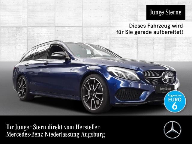 Mercedes-Benz C 43 AMG T 4M Carbon Perf-Abg Fahrass+ Burmester, Jahr 2017, petrol