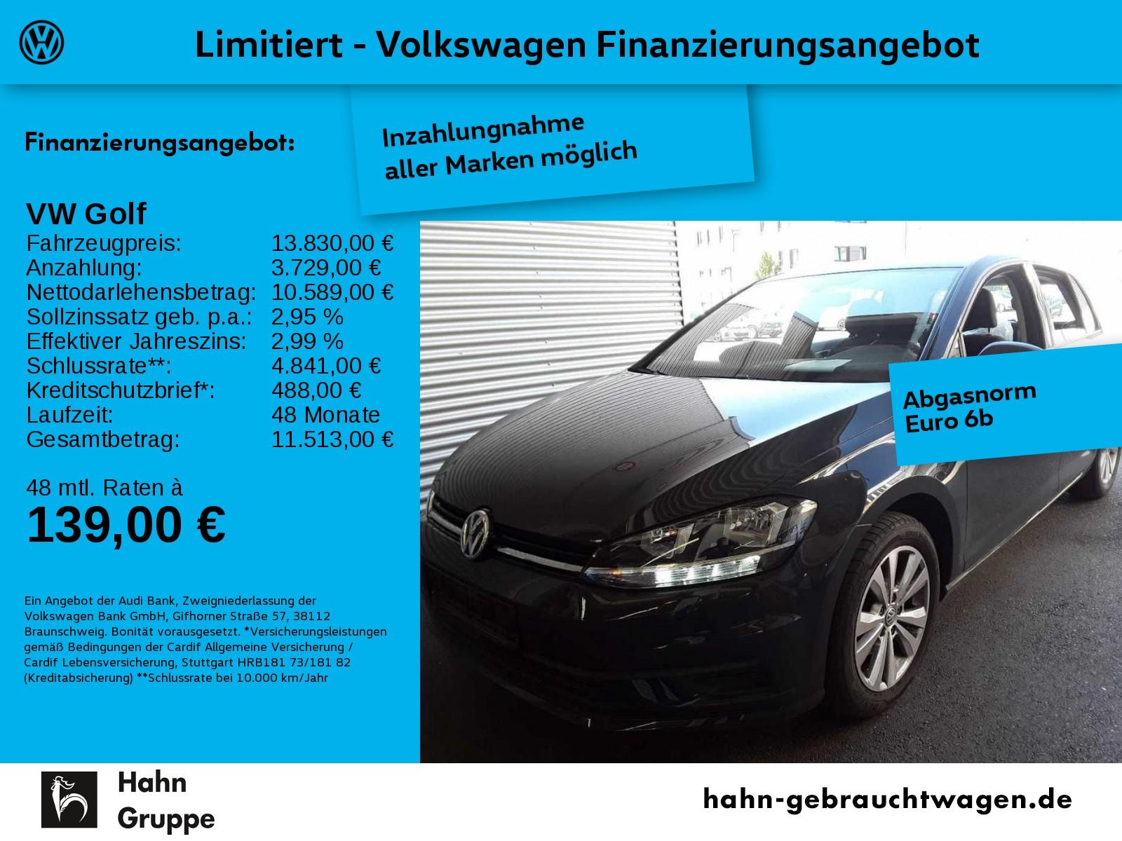 Volkswagen Golf VII 1,0TSI Climatronic Einpark Sitzheiz MFL, Jahr 2017, Benzin