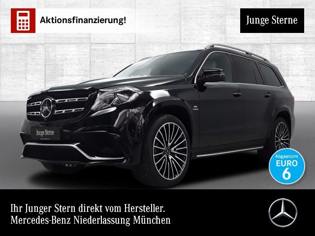 Mercedes-Benz GLS 63 AMG 4M Airmat Stdhzg Pano Harman Distr. AHK, Jahr 2018, petrol