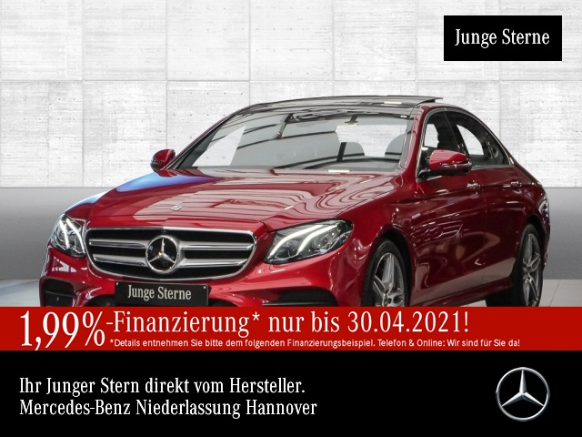 Mercedes-Benz E 450 4M AMG Fahrass WideScreen 360° Stdhzg Pano, Jahr 2019, Benzin