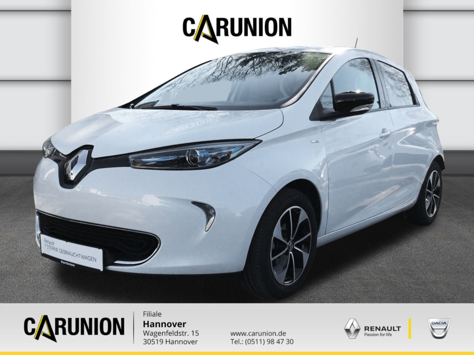 Renault ZOE 41 KWh Intens zzgl. Batteriemiete, Jahr 2017, Elektro