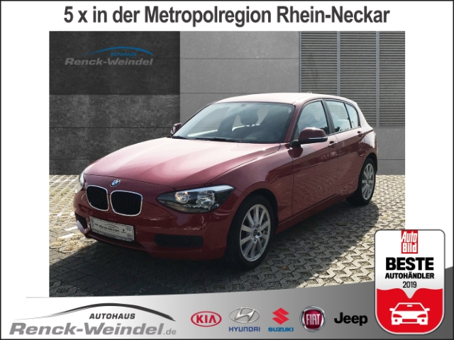 BMW 116 d Navi Keyless Multif.Lenkrad NR RDC Klima SHZ PDC CD AUX USB MP3 ESP MAL DPF Sperrdiff., Jahr 2013, diesel