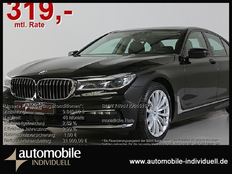 BMW 740d 4xel. Sitze Standh. Laser20Zoll FondMonitor, Jahr 2017, Diesel