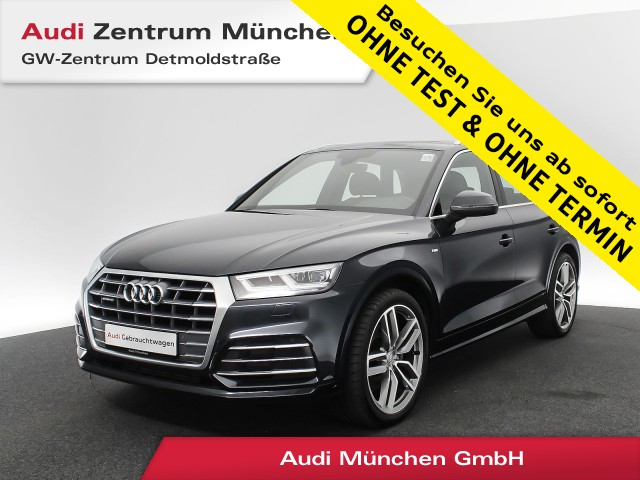 "Audi Q5 2.0 TFSI qu. Sport S line Pano Luftfw. LED Navi Leder R-Kamera 20"" S tronic, Jahr 2018, petrol"