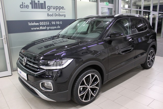 "Volkswagen T-Cross 1.0 TSI DSG Style Navi, Alu 17"", LED Sch, Jahr 2019, petrol"