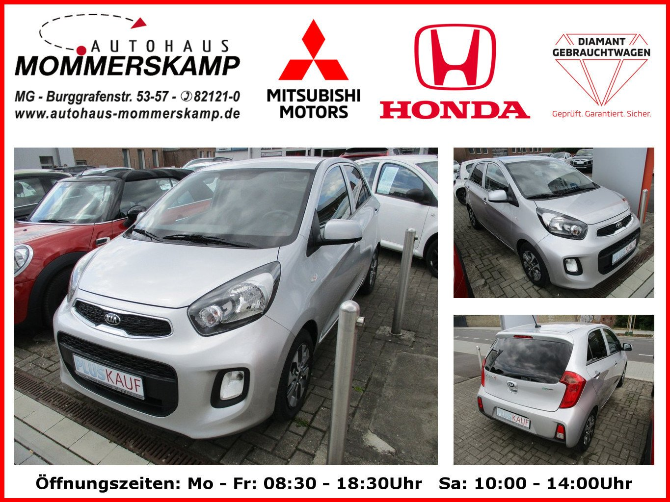 Kia Picanto 1.2 Dream Team Multifunktion+Bluetooth+ZV, Jahr 2015, Benzin