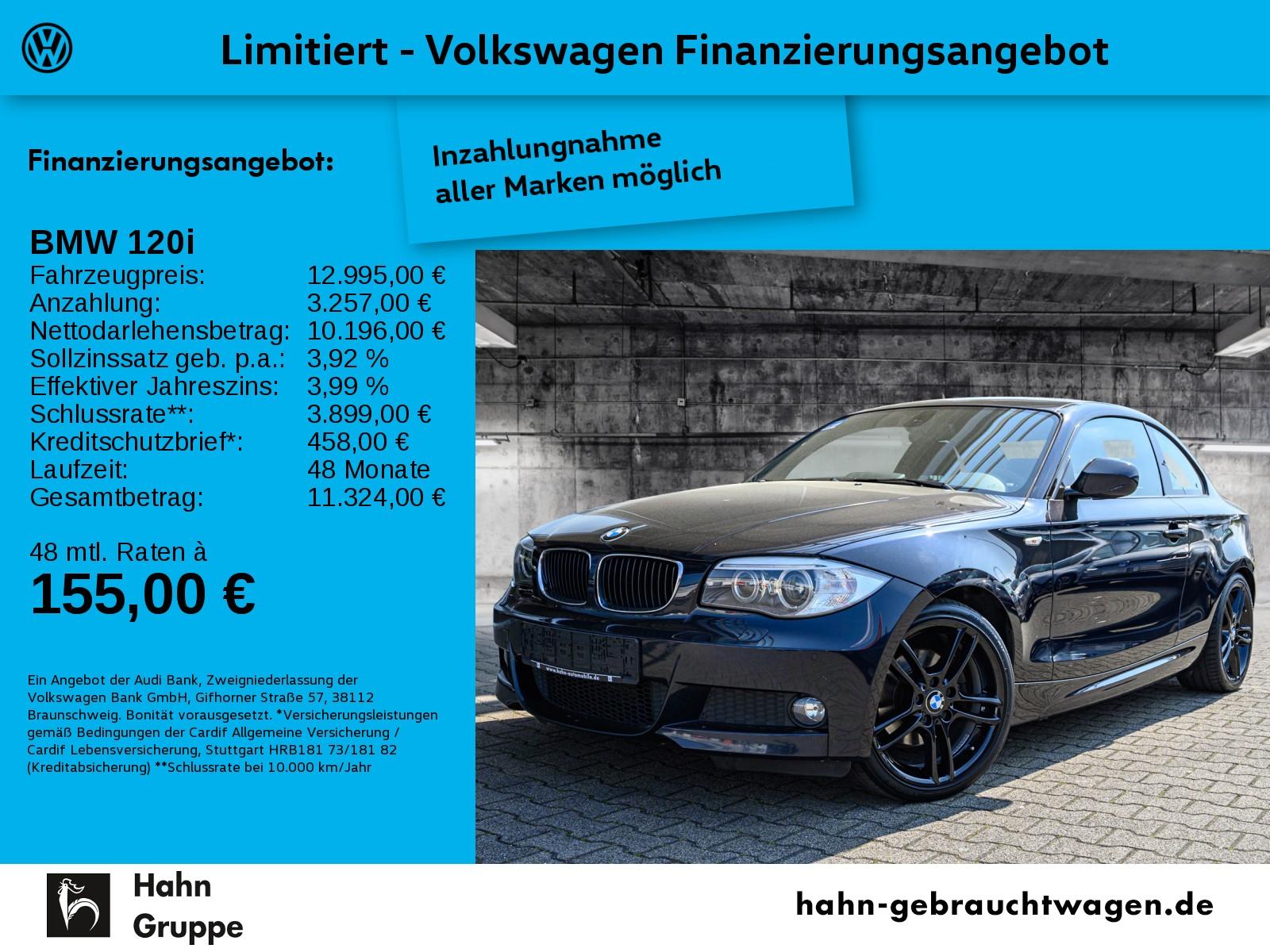 BMW 120i Coupe Climatr Tempo Xenon Einpark Leder, Jahr 2013, Benzin