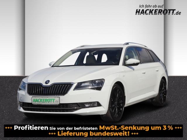 Skoda Superb Combi L&K 2.0TDI DSG AHK Leder Bi-Xenon Navi StandHZG e-Sitze ACC Rückfahrk. e-Heckklappe, Jahr 2017, Diesel