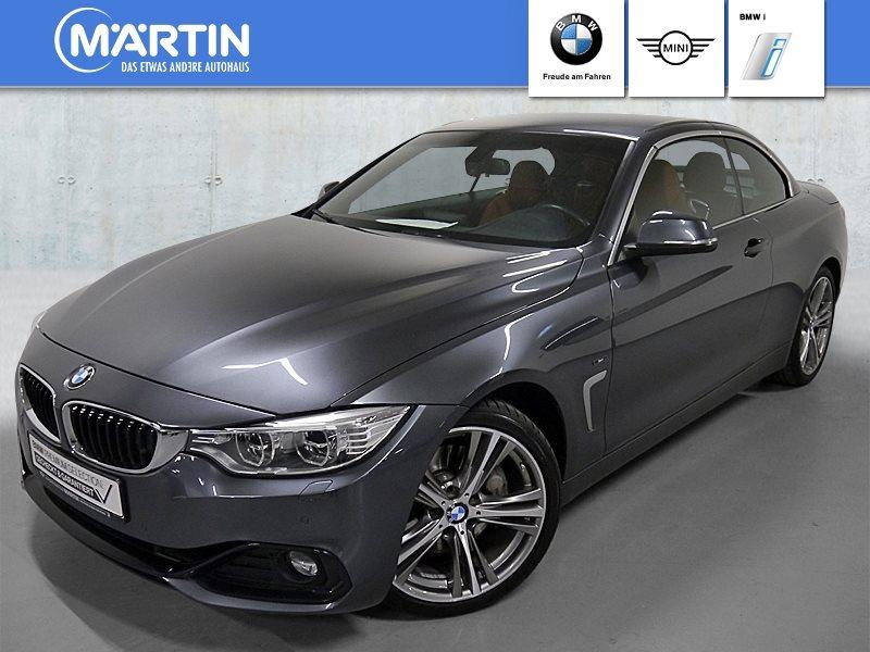 BMW 435i Cabrio*Sport Line*HiFi*DAB*LED*Navi Prof., Jahr 2014, petrol
