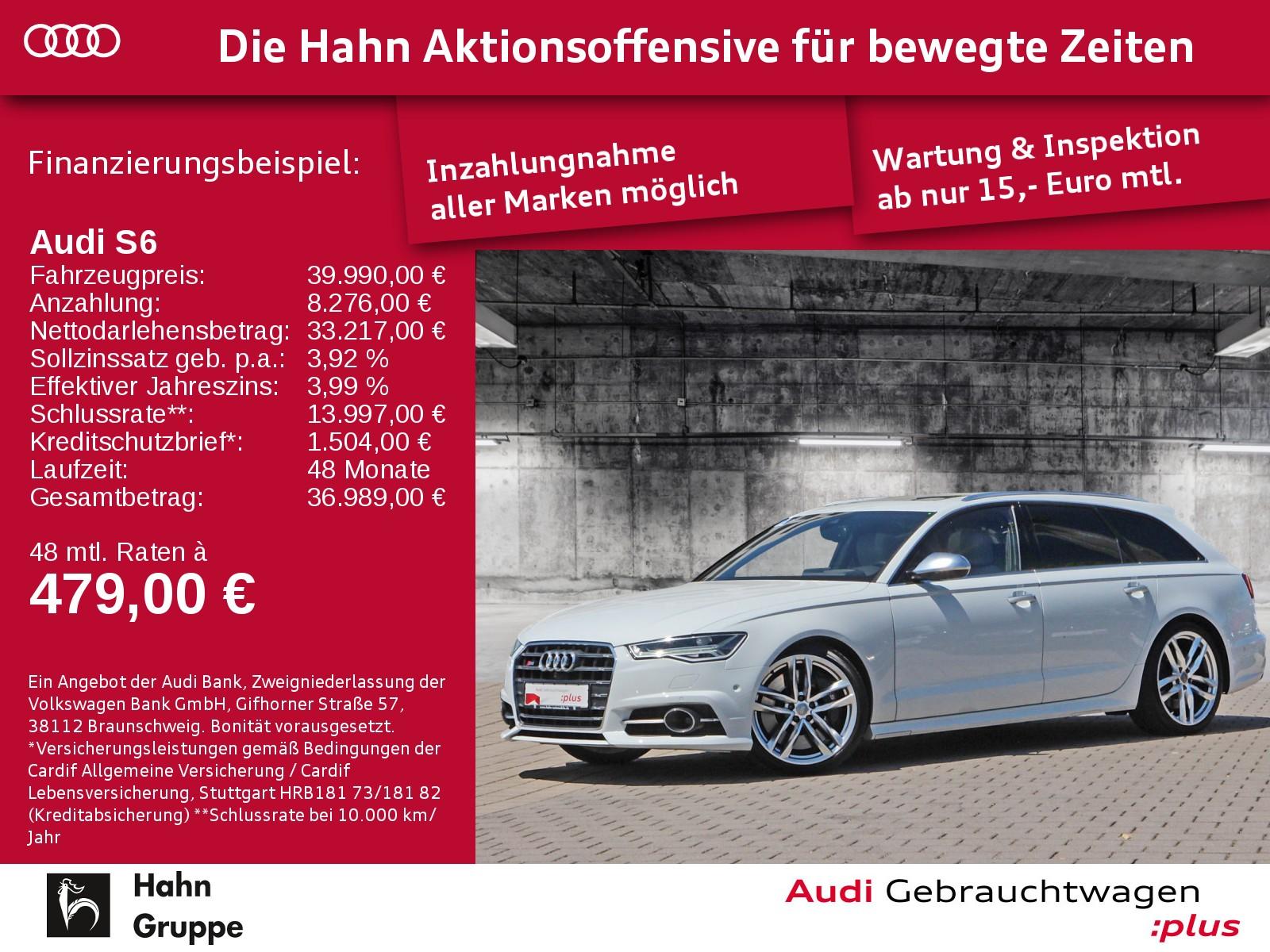 Audi S6 Avant 4.0TFSI EU6 quattro AHK Standheiz Matrix, Jahr 2016, Benzin